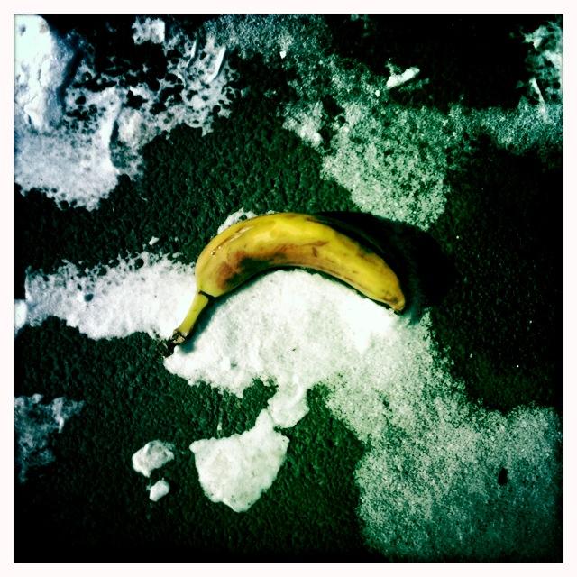 Banana On Black Ice