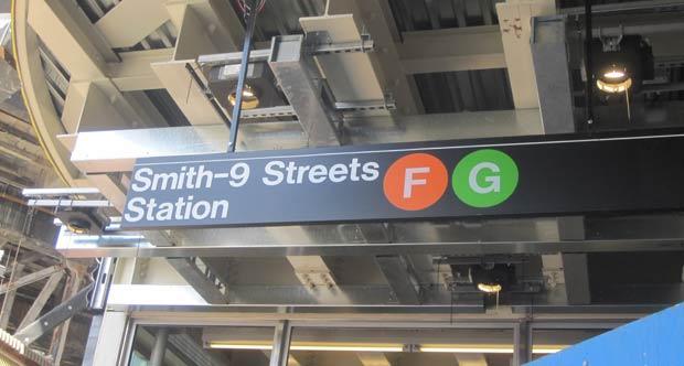 F & G Train Sign