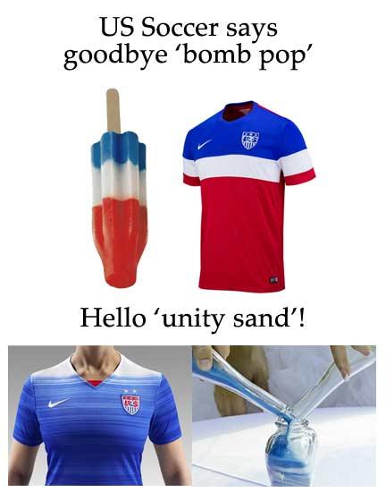 US Soccer unity sand